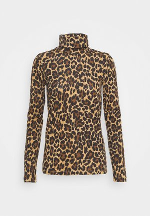 TISSUE TURTLENECK LEOPARD  - Long sleeved top - multi black