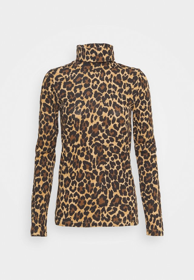 TISSUE TURTLENECK LEOPARD  - Longsleeve - multi black