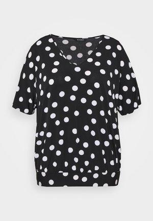 MONO SPOT BUBBLE TOP - T-shirts med print - black