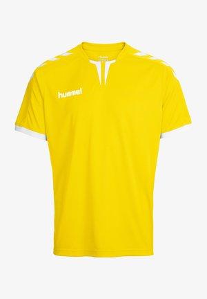 POLY JERSEY - Print T-shirt - sports yellow pr