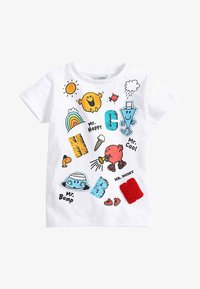 Next - MR MEN - Print T-shirt - white - 0