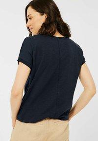 Cecil - MIT U-BOOT AUSSCHNITT - Basic T-shirt - blau - 1
