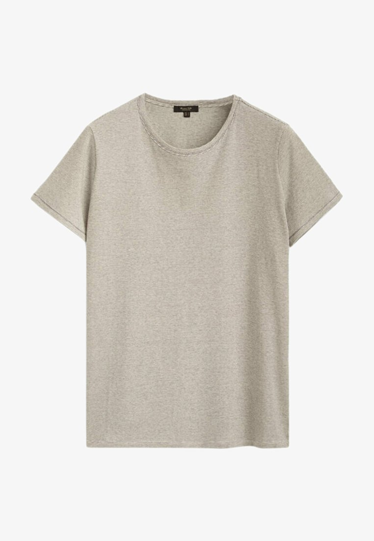 Massimo Dutti - Print T-shirt - stone