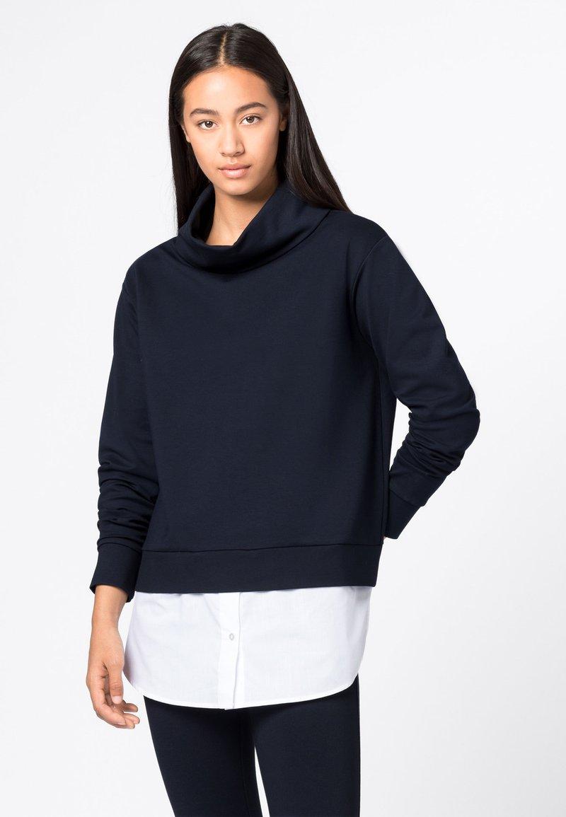 HALLHUBER - TWO-IN-ONE MIT STEHK - Sweatshirt - dunkelblau