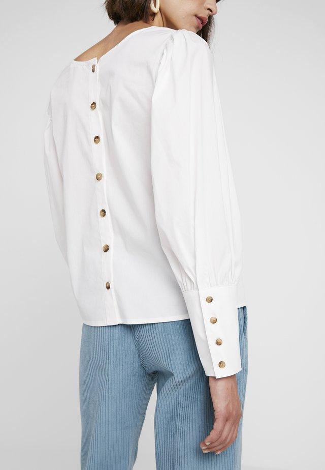 KRISTINE POPLIN BLOUSE - Bluse - white