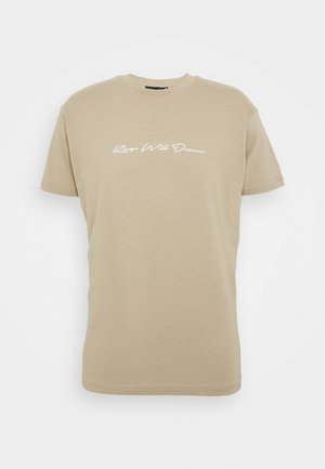 UNISEX ASHLEY TEE - Print T-shirt - stone