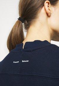 Proenza Schouler White Label - LONG SLEEVE - Felpa - navy/teal tie dye - 4