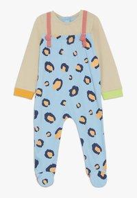 Lucy & Sam - RIBBON ROMPER LEOPARD PRINT BABY - Jumpsuit - light blue/off white - 0