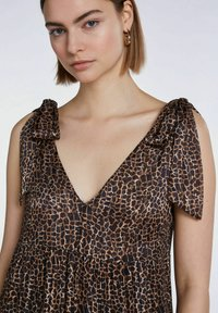 SET - Maxi dress - dark brown camel - 5
