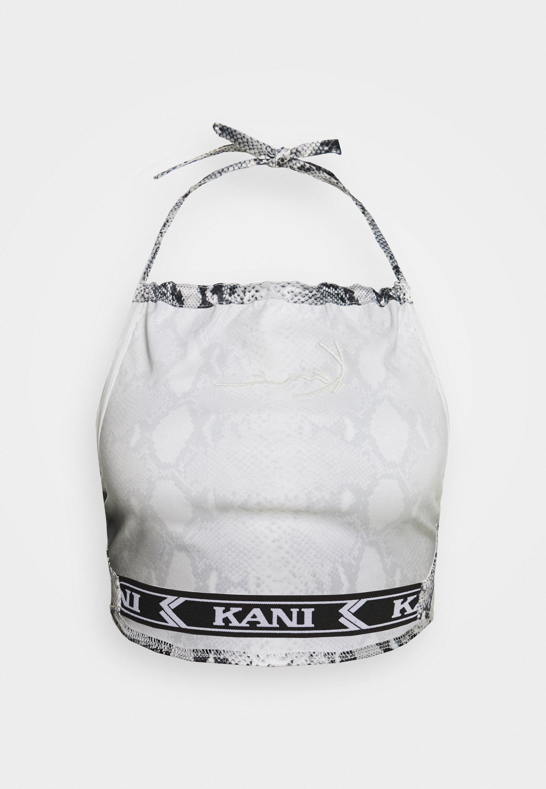 Karl Kani SMALL SIGNATURE SNAKE NECKHOLDER - Topper - black