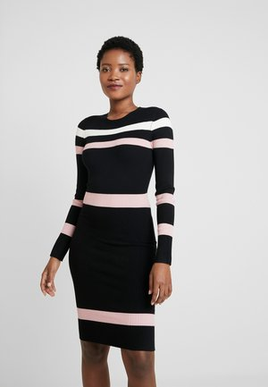 Robe fourreau - black/pink/white