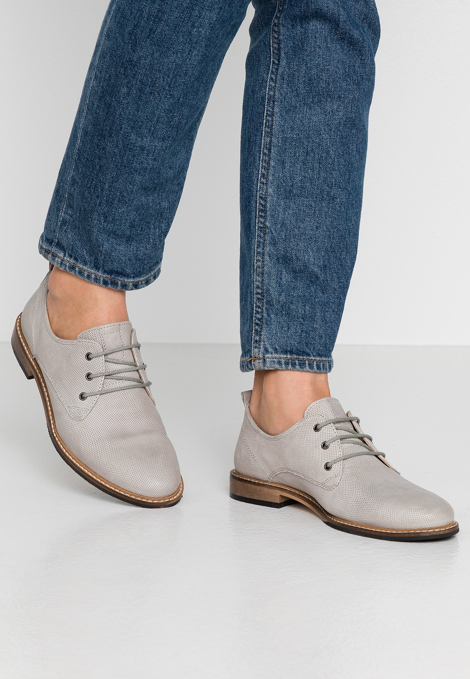 Anna Field LEATHER LACE UPS Snøresko grey Zalando.no