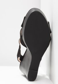 Dorothy Perkins - RADICAL STACKED 70S WEDGE - High heeled sandals - black - 6