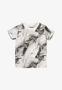 Next - Print T-shirt - black/off-white - 0