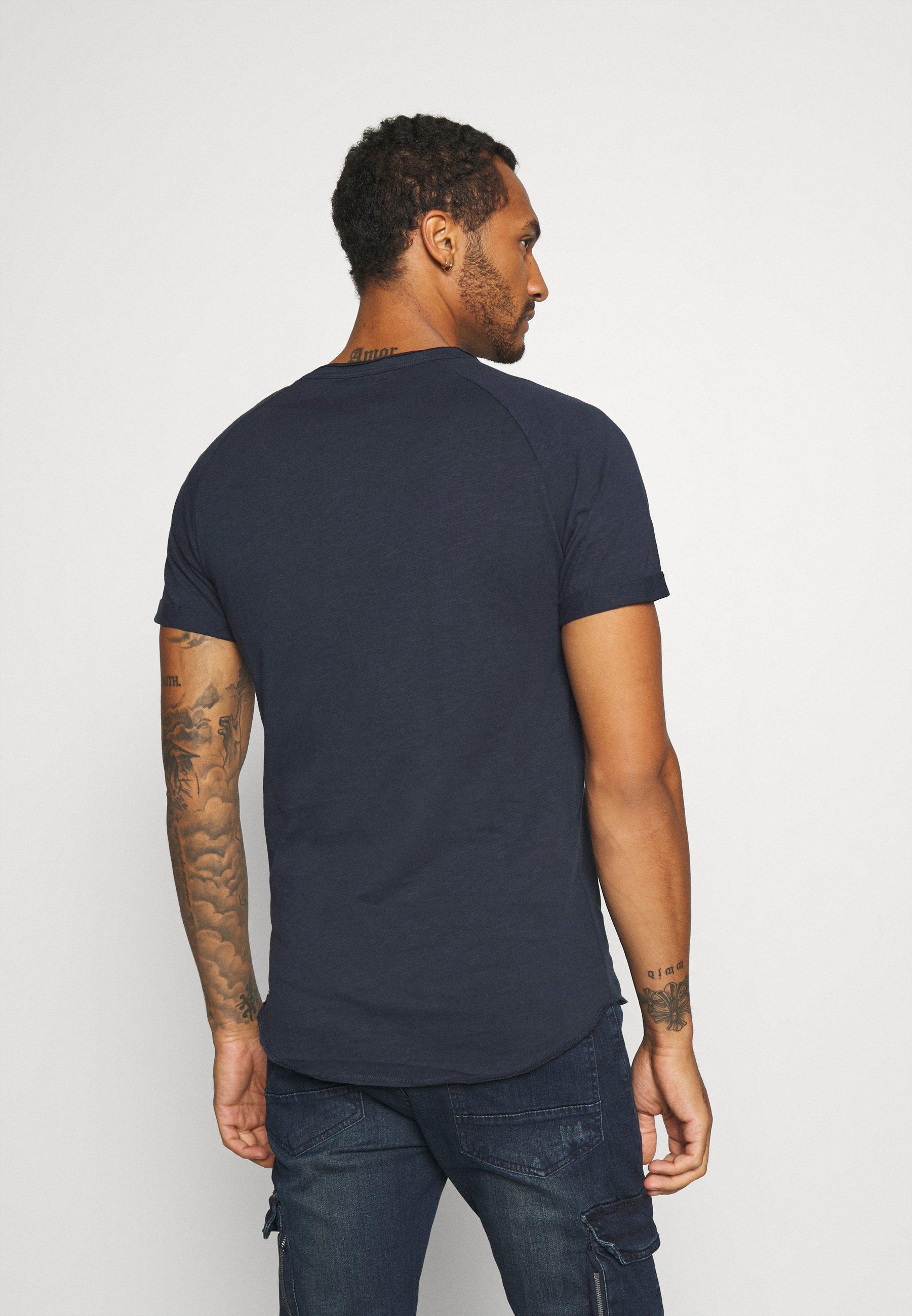 Redefined Rebel KAS TEE - Basic T-shirt - navy H9cQB