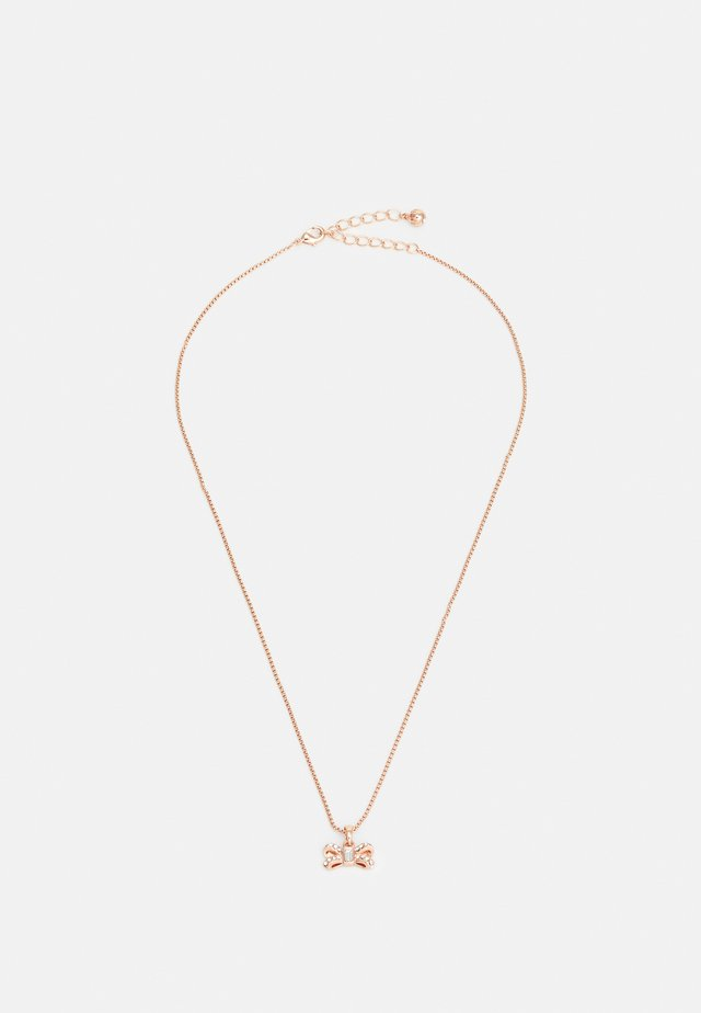 SABENA SPARKLE BOW TINY PENDANT - Ketting - rose gold-coloured/crystal