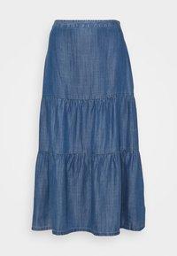 Esprit - Pleated skirt - blue medium wash - 0