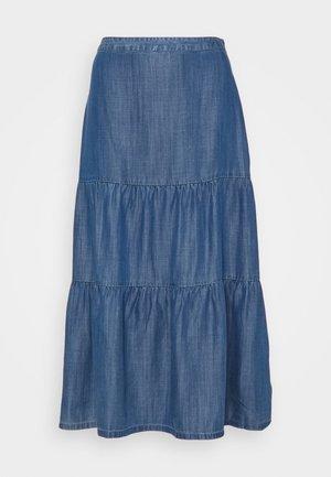 Pleated skirt - blue medium wash