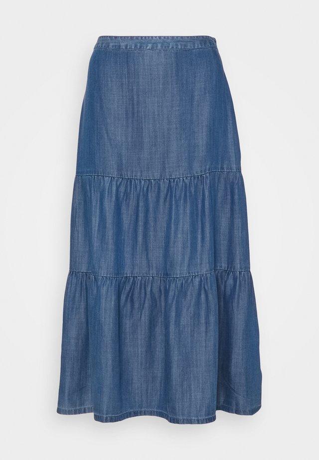 Plisséskjørt - blue medium wash