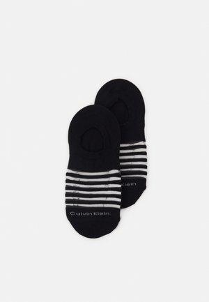 WOMENS SHEER STRIPE LINER LUNA 2 PACK - Trainer socks - black