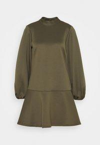Closet - HIGH NECK PEPLUM DRESS - Day dress - khaki - 4