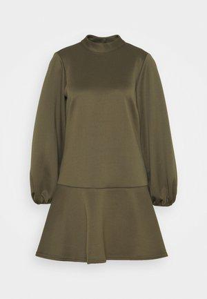 HIGH NECK PEPLUM DRESS - Vestito estivo - khaki