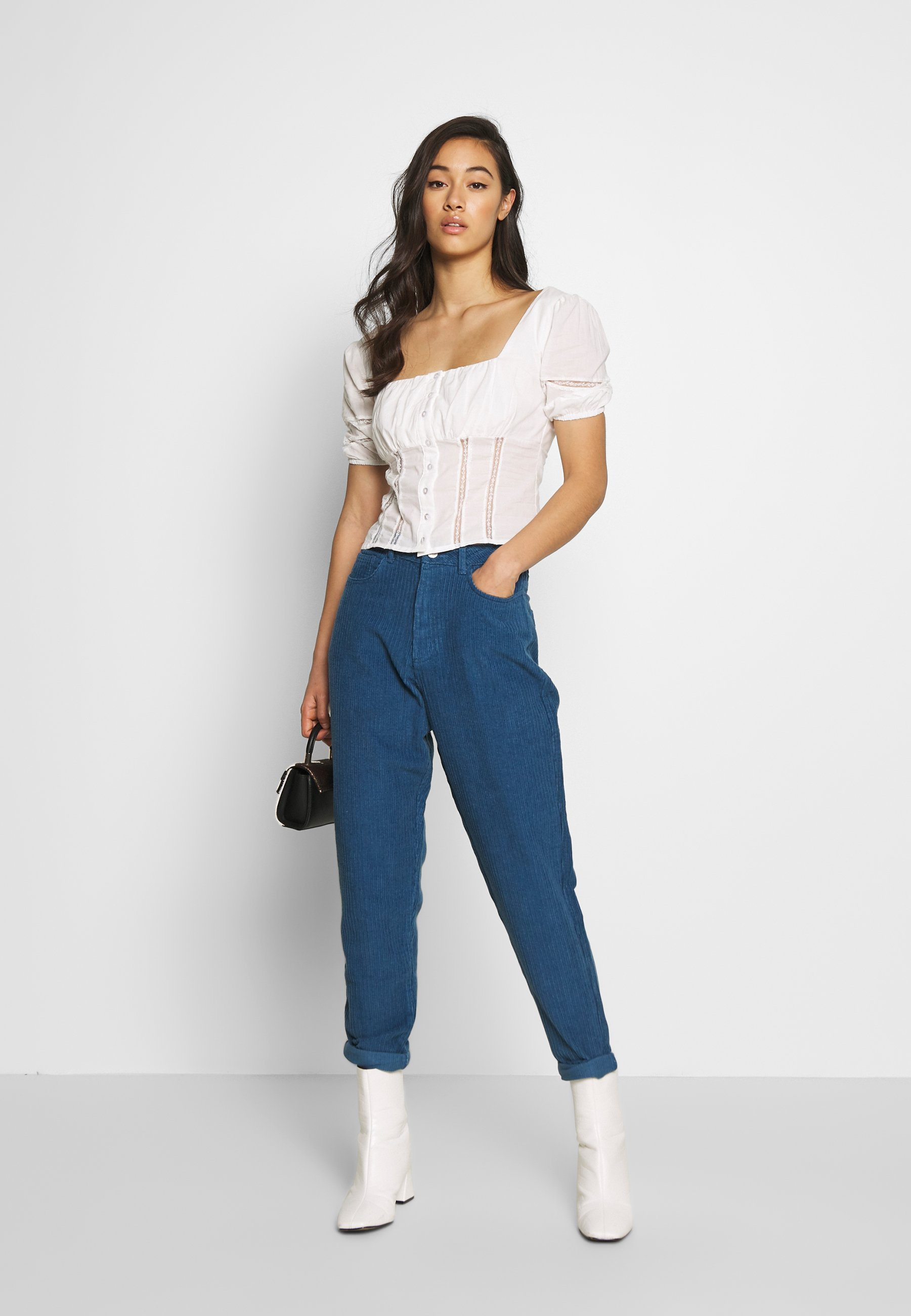 Missguided RIOT HIGH RISE JUMBO MOM JEAN PETROL - Bukse - blue