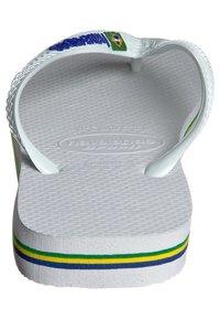 Havaianas - BRASIL LOGO - Pool shoes - white - 3