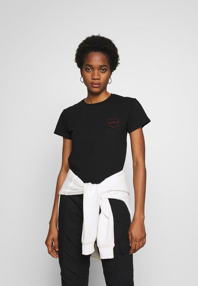 TILDA HEART - T-shirt con stampa - black