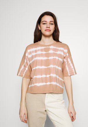 NMBUSTER TIE DYE - Print T-shirt - praline