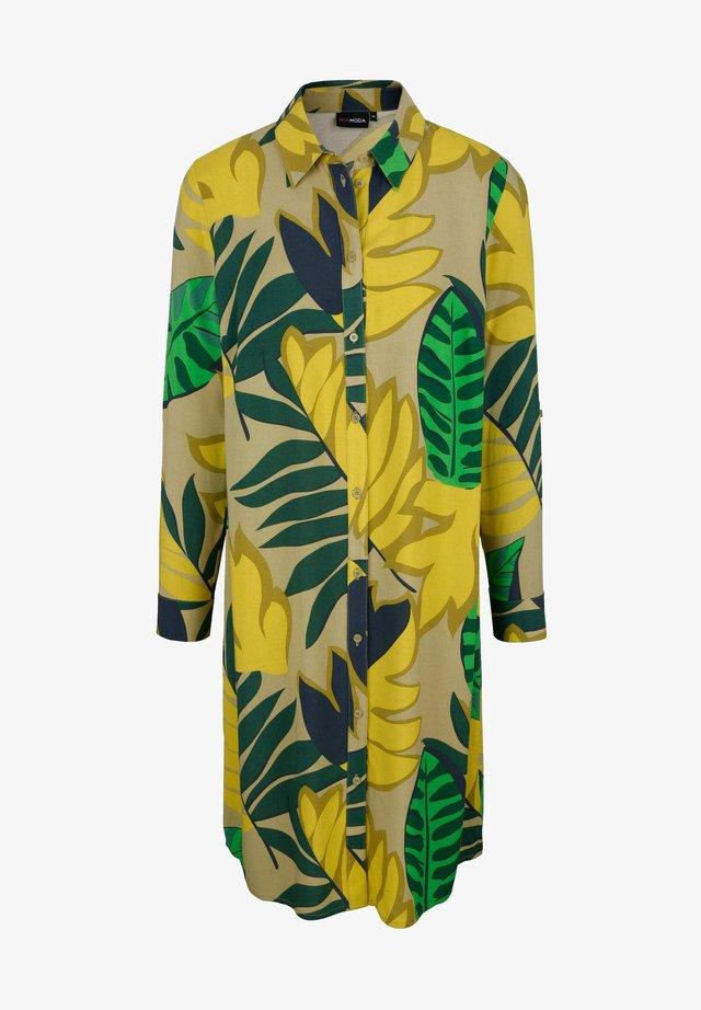 Shirt dress - grün,gelb