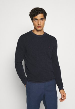 MOULINE STRUCTURE CREW NECK - Sweter - blue