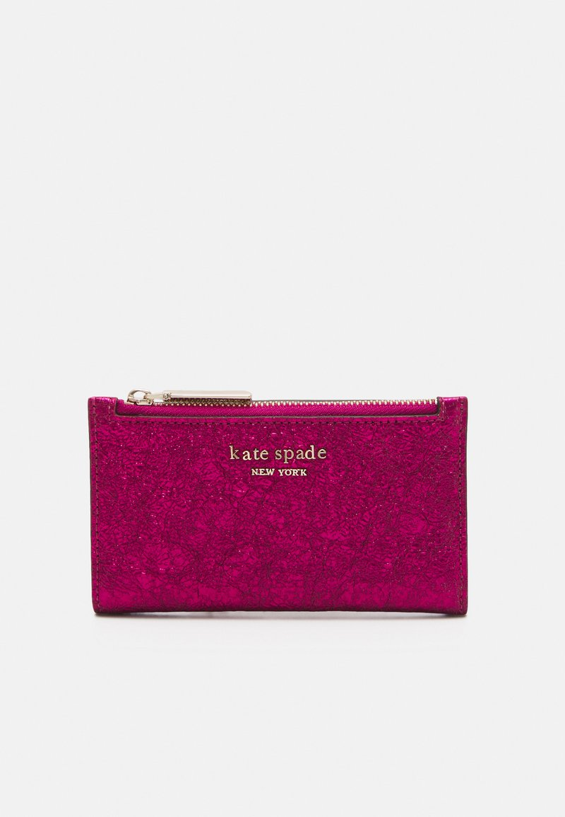 kate spade new york - SMALL SLIM BIFOLD WALLET - Wallet - metallic rhododendron