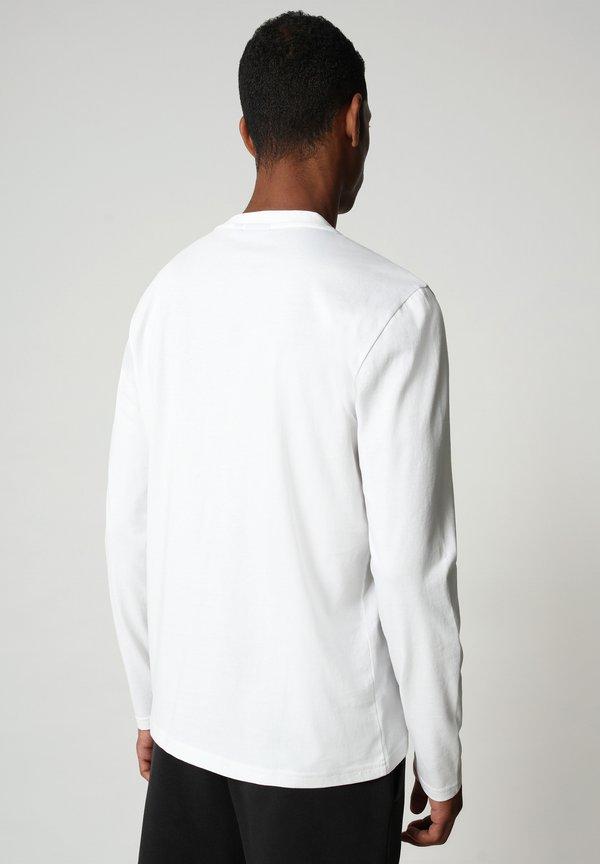 Napapijri ICE - Bluzka z długim rękawem - bright white/biały Odzież Męska UFBR