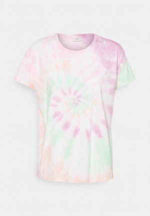 JDYCOCO LIFE TIE DYE - Print T-shirt - cloud dancer