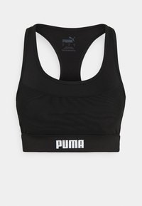 Puma - PAMELA  REIF X PUMA  COLLECTION LAYER SPORT CROP  - Medium support sports bra - black - 5