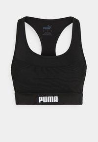 PAMELA  REIF X PUMA  COLLECTION LAYER SPORT CROP  - Medium support sports bra - black