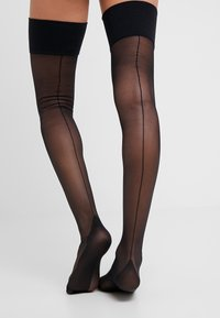 Playful Promises - SEAMED STOCKING - Over-the-knee socks - black - 0