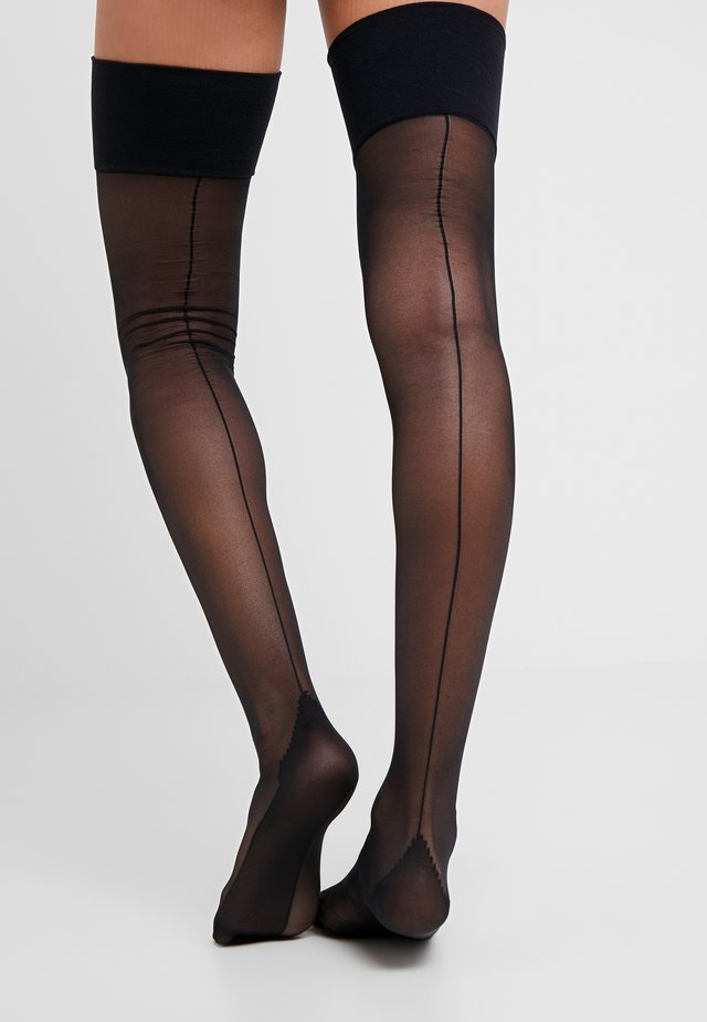 SEAMED STOCKING - Overkneestrümpfe - black