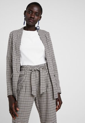 ONLLENA LONG - Short coat - grape leaf/black/cream pink