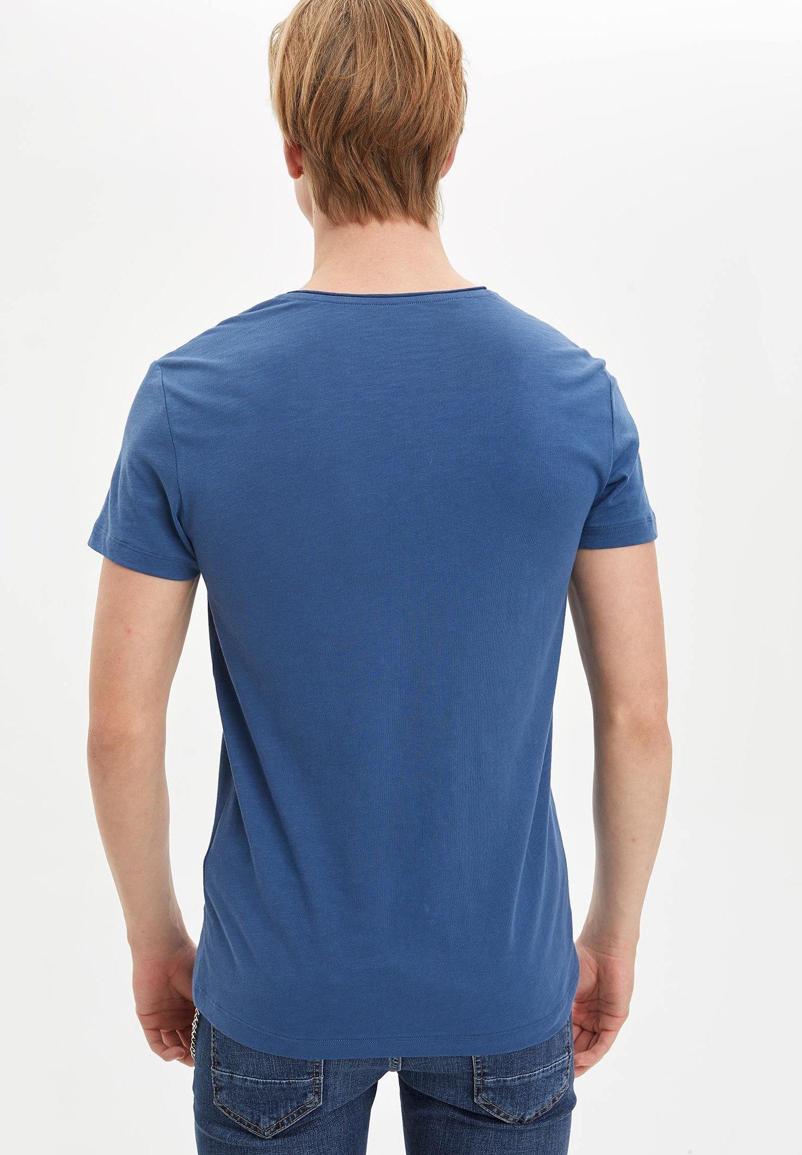 DeFacto Basic T-shirt - indigo 5ZXJn