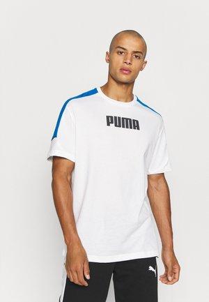 MODERN SPORTS ADVANCED TEE - T-shirt med print - white