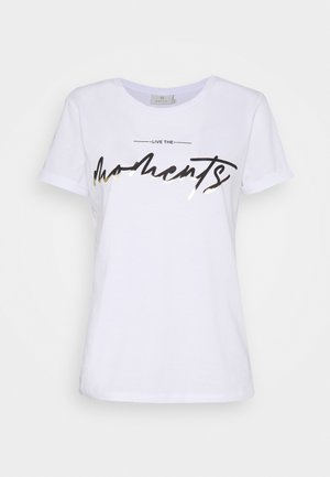 KAMOMENTS - Print T-shirt - white