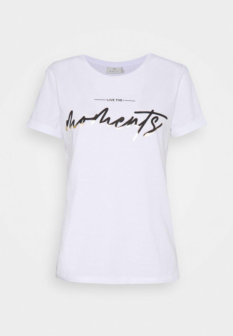Kaffe KAMOMENTS - T-Shirt print - white/weiß 1QL8nP