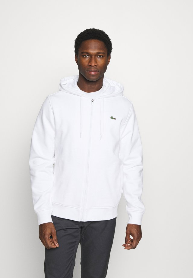 veste en sweat zippée - blanc