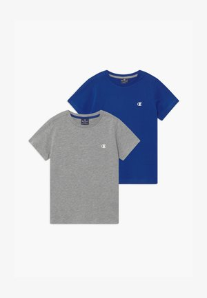 LEGACY BASICS CREW-NECK UNISEX 2 PACK  - T-shirts - blue/mottled grey