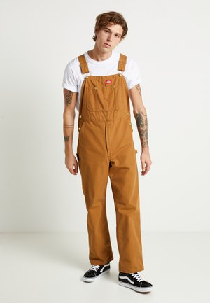 BIB OVERALL - Salopette - brown duck