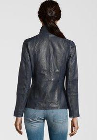 7eleven - PERUGIA  - Leather jacket - navy - 2