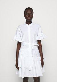 TWINSET - ABITO MORBIDO IN COMFORT - Shirt dress - bianco ottico - 0