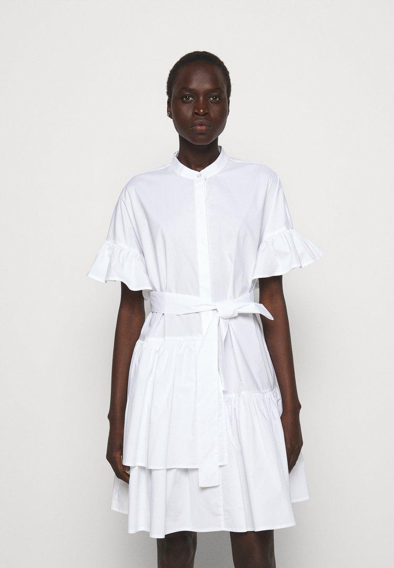 TWINSET - ABITO MORBIDO IN COMFORT - Shirt dress - bianco ottico